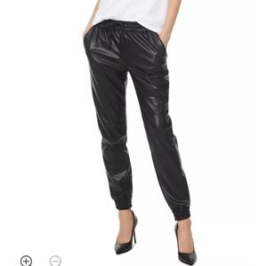 Michael Kors Women's Faux Leather Joggers